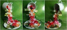 Cana varsata cu flori - aranjament floral | Orice ieftin.