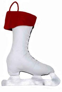 Ice Skate-Christmas stockings,