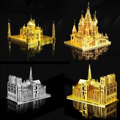 High Quality 3D Metal Puzzle Educational Toys Jigsaw Puzzles Basil's Cathedral Taj Mahal Notre Dame Building Model DIY Kids Toys #>=#>=#>=#>=#> Click on the pin to check out discount price, color, size, shipping, etc. Save and like it!