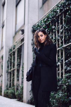 Fashion Blogger, Street Style, gold earrings, statement earrings, gold  statement earrings,. Ysl Kate BagYsl BagWearing All BlackAll ... f49d5237ee