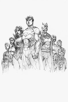 Superman & Justice League by Jim Lee Comic Book Artists, Comic Book Characters, Comic Artist, Comic Character, Comic Books Art, Character Design, Dc Comics Art, Marvel Dc Comics, Illustrations
