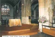 Altar when it was un