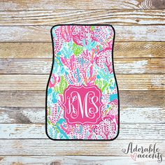 New car, new floor mats... right?  Monogrammed Lilly Pulitzer Inspired Car by ShopAdorableAccents
