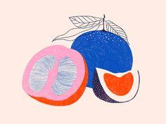 Food recipe kitchen art illustration modern geometric minimalist fruitYou can find Kitchen art and more on our website.Food recipe kitchen art i. Art And Illustration, Food Illustrations, Inspiration Art, Art Inspo, Minimal Art, Fruits Drawing, Fruit Art, Fruit Food, Arte Floral