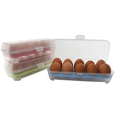 EggSafe Egg Storage Container 3pack Covered Egg Keeper Stores and Covers 10 Eggs 30 Egg Storage Capacity -- Check out the image by visiting the link.
