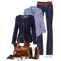 Fall will soon be here. Cute outfit. My fav season:)