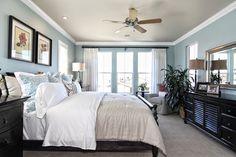 master bedroom. light blue, white and black = relaxing. #kellerhomes