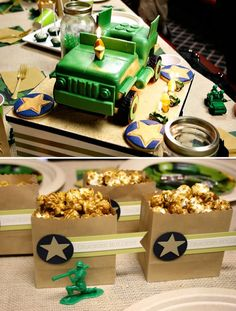 Army birthday party. For more party inspiration visit Get The Party Started on Etsy at www.getthepartystarted.etsy.com
