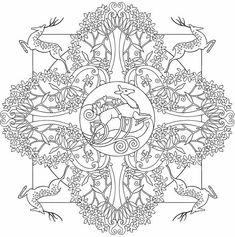 nature mandalas coloring pages - Google Search