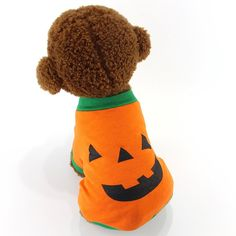 MEWTOGO Pet Dog Cat Halloween Costume-Pumpkin Dog Cat Clothes -- Quickly view this special dog product, click the image : Costumes for dog