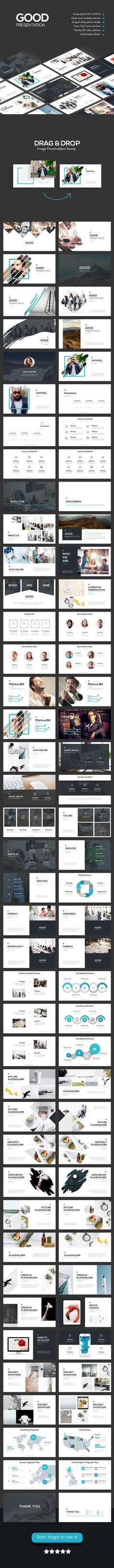Good - Creative Theme (PowerPoint Templates) - Stunning Resources for designers - OrTheme Presentation Layout, Powerpoint Presentation Templates, Keynote Template, Presentation Slides, Creative Powerpoint, Colegio Ideas, Info Board, Slide Design, Grafik Design