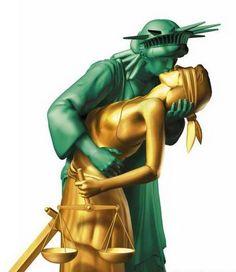 Lady Liberty+Lady Justice