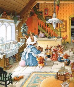 Children's books-----anyone know the artist so I can give credit? Loic Juannigot, The Beechwood Bunnies?