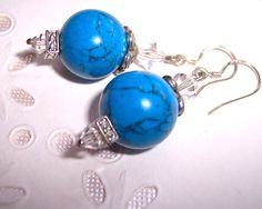 $23  http://www.artfire.com/ext/shop/product_view/amijusartdesign/1598603/i_will_build_you_with_stones_of_turquoise/handmade/jewelry/earrings/gemstone