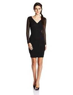 French Connection Womens Liv Jersey Long Sleeve Bodycon Dress Black 6 *** Details can be found by clicking on the image.(This is an Amazon affiliate link and I receive a commission for the sales)