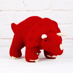 Large Red Triceratops: This is the newest kid on the block and he is pure chunky, funky loveliness. Obviously terrifying too.... RAAAAAAAH