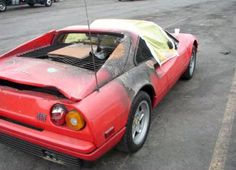 Wrecked Damaged Salvage Rebuildable Ferrari Cars For Sale My Dream Car, Dream Cars, Ferrari 328, Ferrari For Sale, Abandoned Cars, Abandoned Places, Clean Your Car, Lead Acid Battery, Car And Driver