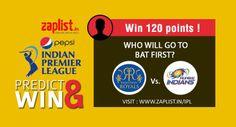 RR Vs.MI: who will go to bat first? Play & Win 120 Points today ! Click - www.zaplist.in/ipl #ipl #cricket #kolkata #freeshopping