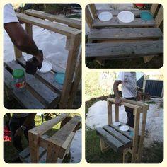 Building a pallet sand kitchen