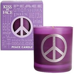 Kiss My Face Soy Candle Lavender Manderin Peace
