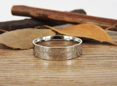 Handmade Flat Polish Custom Your words in Elvish Tengwar, Lord of the Rings, Wedding Bands, Couple Ring, Titanium Ring Anniversary Ring Engraving Services, Titanium Rings, Couple Rings, Lord Of The Rings, Anniversary Rings, Wedding Ring Bands, Unique Weddings, Jewelry Stores, Engagement Rings