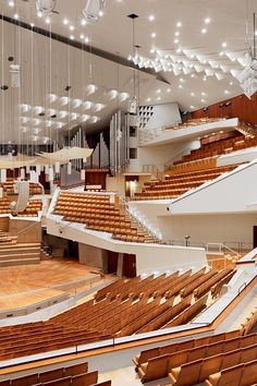 Philharmoniker, Berlin - Photographed by Mattias Hamrén Auditorium Architecture, Theatre Architecture, Auditorium Design, Beautiful Architecture, Contemporary Architecture, Architecture Details, Interior Architecture, Building Architecture, Landscape Architecture