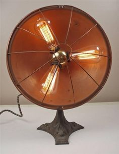 Antique Vintage 3 Way Benjamin Socket Copper Industrial Style Lamp