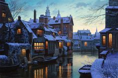 Twilight In Brugge by Evgeny Lushpin
