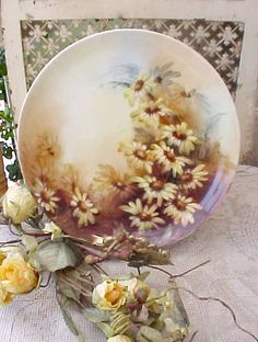 Beautiful Hand Painted Antique Porcelain Plate by TheJewelMystique, $60.00