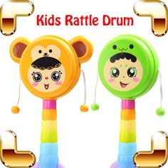 >> Click to Buy << New Coming Gift Baby Rattle Drum Music Toy For Kids Hand Drum Crisp Game Musical Education Toys Instrument Percussion Shaking #Affiliate