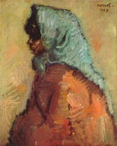 Isidre Nonell (Spanish, Gypsy with a Shawl Figure Painting, Oil Painting On Canvas, Pablo Picasso Cubism, Fine Arts School, Spanish Art, Santa Marta, Post Impressionism, Oil Painting Reproductions, Abstract Expressionism