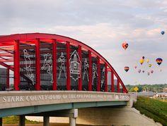 Pro Football Hall of Fame Bridge - Canton, Ohio