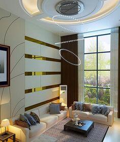 Simple y elegante modelo de sala de estar