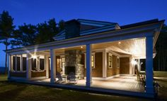 porches and fireplace