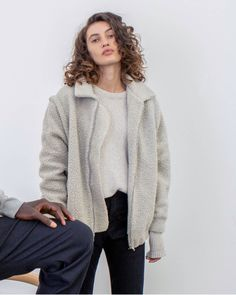 Recycled Wool and up-cycled plastic bottles were used to create our 2 in 1 Modular Teddy Coat. The limited-edition run is made in England and features zip off sleeves. Teddy Coat, Save The Planet, Slow Fashion, Plastic Bottles, Sustainable Fashion, Upcycle, How To Make, How To Wear, England