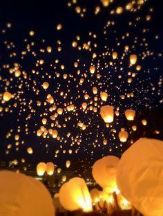 Sky Lantern Festival in Grand Rapids, Michigan