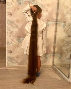 Cut My Hair, Long Hair Cuts, Hair A, Long Hair Styles, Ponytail Updo, Ponytail Hairstyles, Down Hairstyles, Rapunzel Hair, Super Long Hair