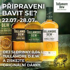 Pouze v Cafe Bulldog - Tullamore D.W & dárky za drinky Irish Whiskey, Whiskey Bottle, Drinks, Drinking, Beverages, Drink, Beverage