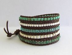 Chan Luu Inspired Leather Wrap Bracelet with by fabflamingowraps, $39.95