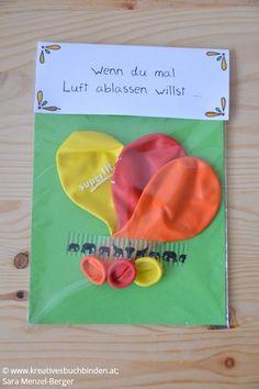 Wenn du mal Luft ablassen willst ...  Geschenk: Luftballone    Die Wenn-Box ist ein tolles Geburtstagsgeschenk, du kannst sie aber auch   basteln für eine Hochzeit, als Mitbringsel oder für Weihnachten.    #kreativesschaffen #wennbox