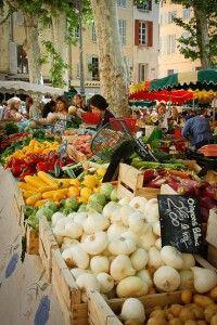 Aix en provence market day.