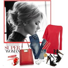 Casual ... and red! Love it!