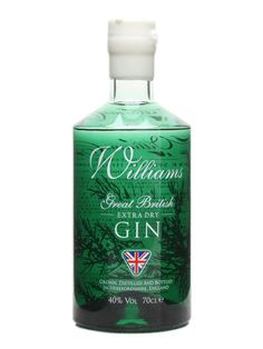 Williams Great British Extra Dry Gin : Buy Online - The Whisky Exchange - A lighter but more powerfully flavoured gin from the folks at Williams Chase - an extra dry designed with the G loving Spanish in mind, this is a juniper led gin that makes great long drinks.
