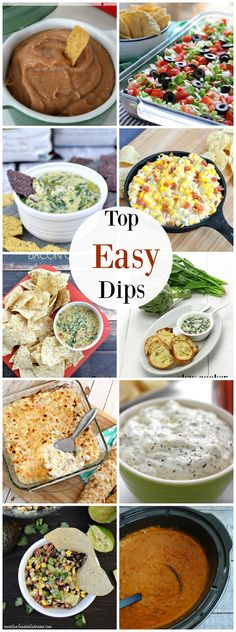 Top Easy Dips - perfect for Super Bowl!
