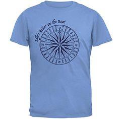 Summer Sun Life's Better on the Boat Mens T Shirt Carolin...
