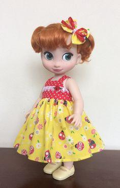 "Ladybugs dress set for 16"" Disney Animators' Collection doll"