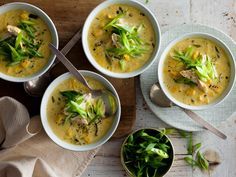 Deliciously warming, this creamy chicken and sweet corn soup really hits the spot on a cool evening