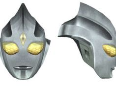 Ultraman - Life Size Ultraman Tiga Mask for Cosplay Free Papercraft Download