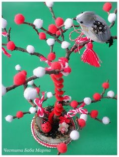 idee de 1 sau 8 martie Baba Marta, 8 Martie, Garden Terrarium, Bellisima, Quilling, Crafts For Kids, Food Humor, Traditional, Bird
