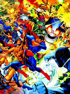 Green Lantern Corps and Justice League vs Sinestro Corps and Anti-Monitor by Ivan Reis